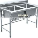 Stainless steel Sink Table with two Basin