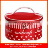 Red Oval Zip Lock Cosmetic Bags