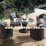 Outdoor Fiber Table and Chair with Cup Holder