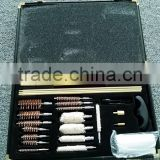 28 piece golden trim corner aluminium cased weapon cleaning set