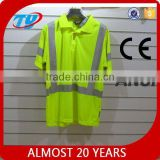 2016 High visibility safety traffic reflective T-shirt motorcycle reflective safety vest