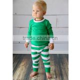 2015 children christmas pajamas kids christmas boutique green stripe boy christmas pajamas