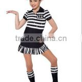 Black and White Zebra-skirt Dance Costumes Baby Girl Daughter Lovely Stage Wear