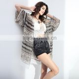 2016 Printing Plus Size Beachwear Veil Swim Suit Cover Up Beach Dresses Women