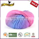 2014 the best selling space dyed wool/nylon blend yarn with good quliaty for hand knitting sweater