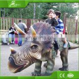 KAWAH Coin Operated Triceratops kiddie rides Animatronic Walking Dinosaur Rides