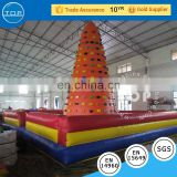 PVC inflatable climbing wall backyard children inflatable rock climbing wall