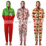 Wholesale pyjamas Ugly Christmas Jumpers Sweater Adult One Piece Jumpsuit Onesie / Pajamas