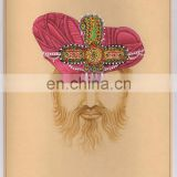 Indian Traditional Water Color Painting With Original Gold Work Hand Painted Rajasthan Of Rajpoot King Painting Art