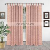 Indian Handmade Printed Hand-block Cotton Curtains Decor Wall Drapes Indian Window Drapery Curtain Window