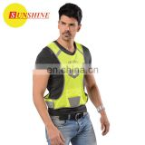 Adult reflex yellow fabric safety running vest working clothes
