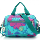 full printed waterproof tote diaper bag with long shoulder