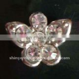 2013 fashion metal butterfly rhinestone button