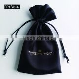 Hot Stamping Satin Jewelry bags, Black Gift Bag with Company Logo                                                                         Quality Choice