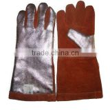 2015 hottest! Safety oil & gas resistance cow split leather Work gloves