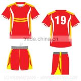 2016 Custom made soccer uniforms, soccer kits and soccer training suit, soccer jersey and soccer shorts