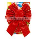 Wedding Car Decorate with Red Velvet Butterfly Tie Pull Bows or Wrapping Ribbon Bows