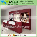 fashion retail wooden watch kiosk for sale