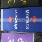 Custom Embroidery Clothing Gold Thread Woven Label for Garment