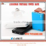 cheappest 12000mah led torch light portable power bank high capacity power bank for iphone and for samsung