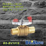 Valves and Fittings 1/4 inch pex ball valve