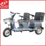 Guangzhou China Tricycle Manufacturer Export Three Wheel Electric Passenger Tricycle For 2 Person