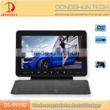 ultra-thin design 9 inch car headrest monitor dvd player with HDMI input with portable cover