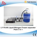 Newest FS-06 liquid nitrogen frozen Separator 3 in 1 pack with oil free pump with 10L liquid nitrogen tank