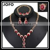 Dubai Golden Crystal Jewelry Sets Wholesale Gift Items From Zhejiang Fashion Jewelry Market
