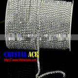 Bling Bling Crystal Rhinestone Cup Chain, Rhinestone Chain Roll, Strass Cup Chain for clothing