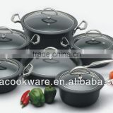 2015 New Products 12PCS High Quality 2.5mm Hard Anodized Aluminium Cookware Set With Plated Copper Surface For Wholesale