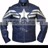 New fashion Captain America The Winter Soldier 2014 Leather Jacket motorbike leather jacket