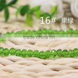 Lime 2MM to 12MM Wholesales Factory Bulk Price Loose Crystal Facted Roundelles Glass Beads for Jewelry Cheapest