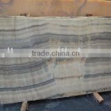 Black bamboo onyx slab