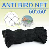 pe anti bird net, black anti bird net, bird netting