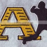 china supplier wholesale sewing accessories SportsArt letter design,customized jersey embroidery patches,appliques for clothing