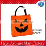 2015 Hot Sale Pumpkin Canvas Material Halloween Bag