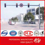 Galvanized and Powder Coated Anti Corrosion Round Traffic Light Poles for Roadway Intersection
