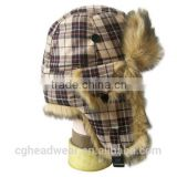 best service China manufacture wholesale fur hat/ russian style fur hat/ rabbit fur trapper hat