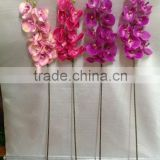 new rtificial silk golden nine heads real touch butterfly orchid for wedding decoartion