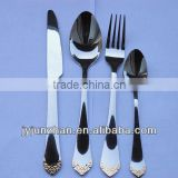 Gold plated flatware set made in Jieyang Junzhan ///Factory sell directly