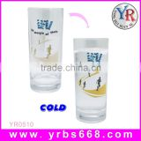 cold glass orca coating mugs/temperature sensitive custom photo color changing mug and cup
