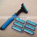 Alternative double blade, manual rotation razor, razor, 1 frame+7 blades