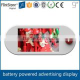 FlintStone 9 inch LCD display monitor, plastic case LED video signage, portable flat panel display