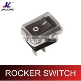 2pins 3pins on-off 6A 250V AC power socket rocker switch waterproof cover mini rocker switch KCD1-101A