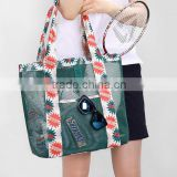 2016 hot sell summer swimming mesh beach tote bag protable wash receive bag