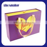 High quality magnetic closure white packaging gift box