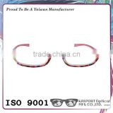 Crystal coaitng and floral pattern slim reading glasses