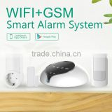 With SOS button on panel two way intercom wireless wifi gsm alarm system control home applications home automation alarm system