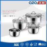 Food grade material factory price 7pcs stainless steel german cookware pot                                                                         Quality Choice